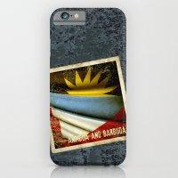 Grunge sticker of Antigua and Barbuda flag iPhone 6 Slim Case