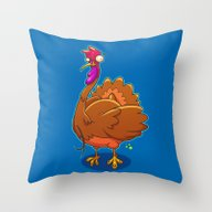 Gobble Me Up Throw Pillow