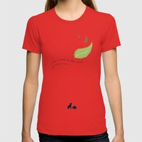 Leaf On The Wind Womens Fitted Tee Red SMALL