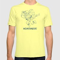Mountaineer! (blue) Mens Fitted Tee Lemon SMALL