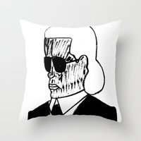 Faces Of Fashion Part De… Throw Pillow