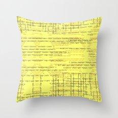 Code Yellow Throw Pillow