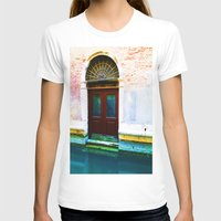 Front Lawn Womens Fitted Tee White SMALL