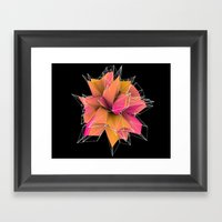3d polygons  Framed Art Print