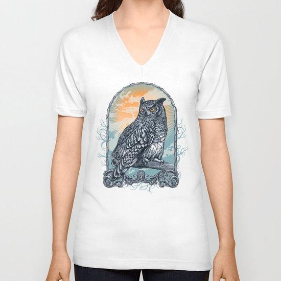 Twilight Owl V-neck T-shirt