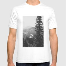River through the Mountains Mens Fitted Tee White SMALL