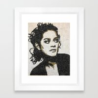 Keyboard Mosaic Framed Art Print