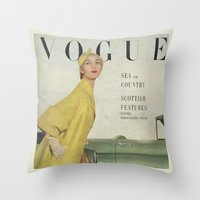 VOGUE 1950 Throw Pillow