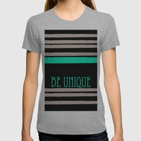 Be Unique Womens Fitted Tee Athletic Grey SMALL