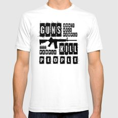 Guns Don't Kill People - People Kill People Mens Fitted Tee White SMALL