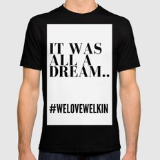 it was all a dream Black SMALL Mens Fitted Tee