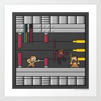 Mega Boss Battles - Dart… Art Print