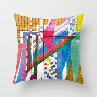 graphic bordello Throw Pillow