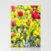 Summer Flowers Art Stationery Cards