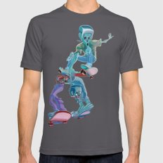 Zombies and Skateboards SMALL Asphalt Mens Fitted Tee