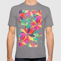 Geo Floral Mens Fitted Tee Tri-Grey SMALL