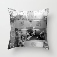 Summer space, smelting selves, simmer shimmers. [extra, 9, grayscale version] Throw Pillow