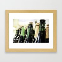 Bottles Of The Bubbly Framed Art Print