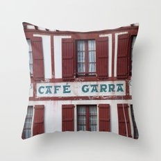 Basque Café Throw Pillow