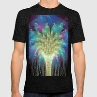 Cosmic Cascade Mens Fitted Tee Tri-Black SMALL