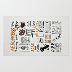 Aeropress poster Rug