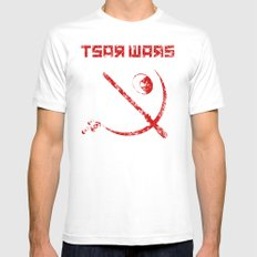 Tsar Wars SMALL White Mens Fitted Tee