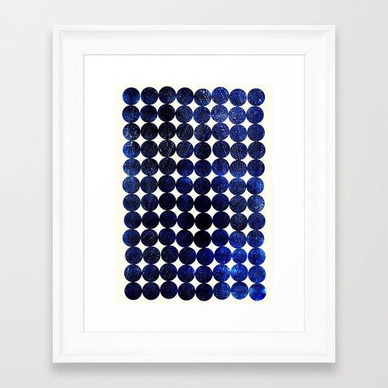 Unity-Indigo Framed Art Print