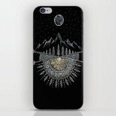 Moon and Stars Night Sky Mountain Range Arrow Mandala iPhone & iPod Skin