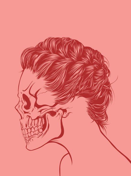 Skull Girl 4 Art Print