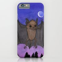 iPhone & iPod Case featuring Herman The Little Brown Bat by Debra Styer