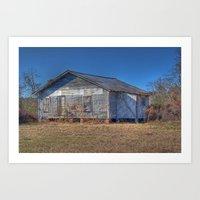 Old Empty Sharecropper's House Art Print