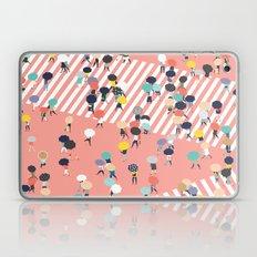 Crossing The Street On a Rainy Day Laptop & iPad Skin