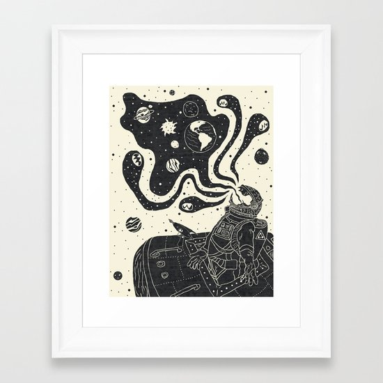 From the Void Framed Art Print