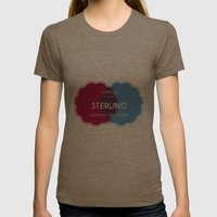 Designer Shirt Womens Fitted Tee Tri-Coffee SMALL