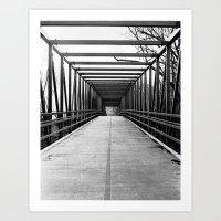 Bridge To Nowhere Black … Art Print