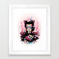 Lucky kitty Framed Art Print