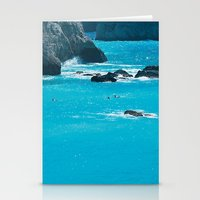 Blue Paradise, seascape photography. Mediterranean blue sea, summer vacations Stationery Cards