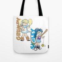 Grumpy/Smiley Tote Bag