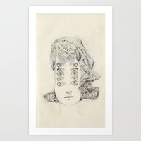 Five Of Them Art Print
