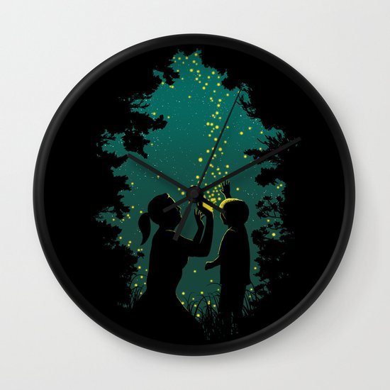 Fireflies Wall Clock