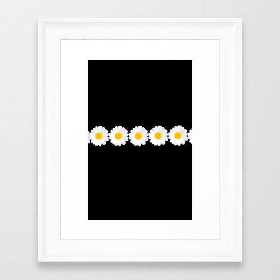 Daisy chain for iphone Framed Art Print