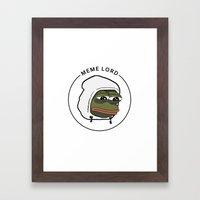 MEME LORD Framed Art Print