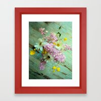Country Flowers Framed Art Print