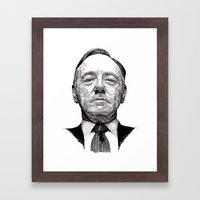 House of Cards - Francis Underwood Framed Art Print