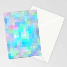 Re-Created Colored Squares No. 1 by Robert S. Lee Stationery Cards