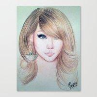 CL (2NE1) - Lee Chae Rin Canvas Print