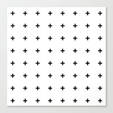 Black Plus on White /// www.pencilmeinstationery.com Canvas Print