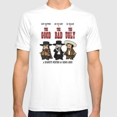 The good, the bad, the ugly SMALL Mens Fitted Tee White
