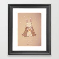 Christmas Creatures- Bun… Framed Art Print