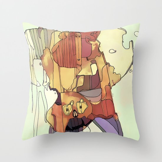Confusion. Throw Pillow